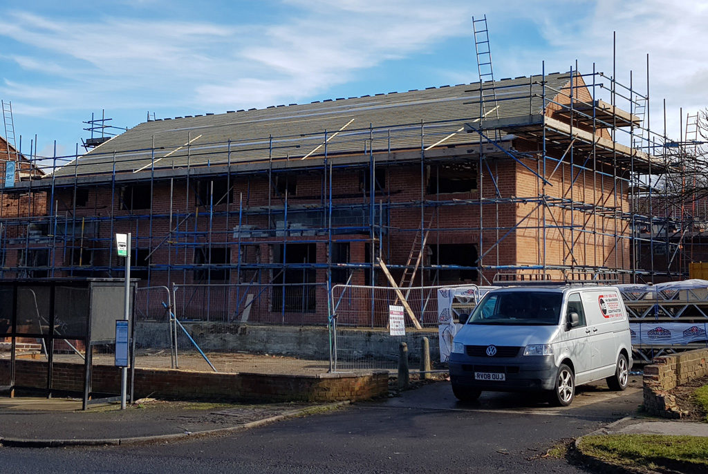 New flats on Yoden Road, Peterlee, Co Durham